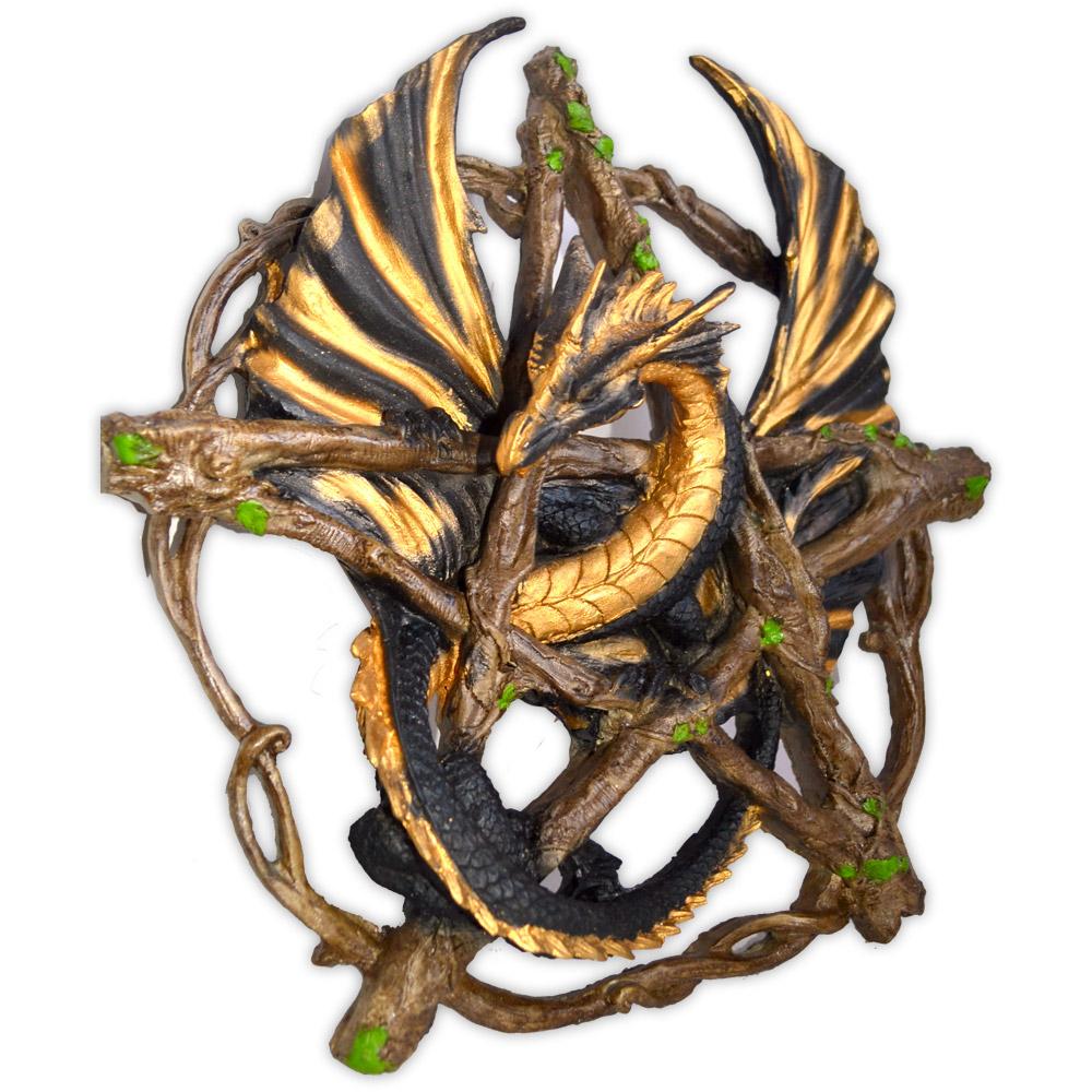 Dragão no Pentagrama - Dourado