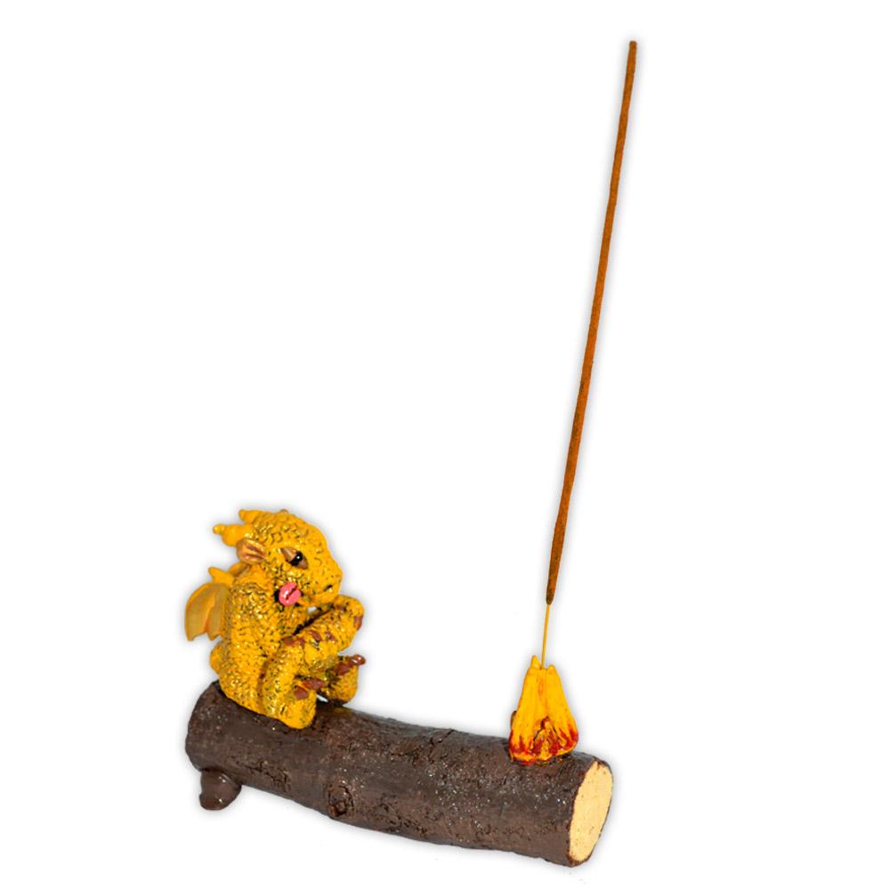 Incensário Dragão - Amarelo