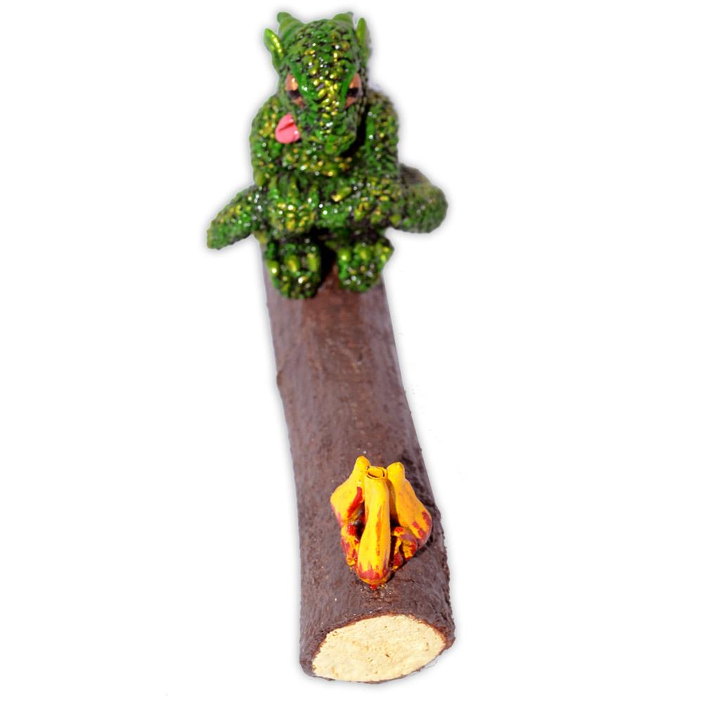 Incensário Dragão - Verde