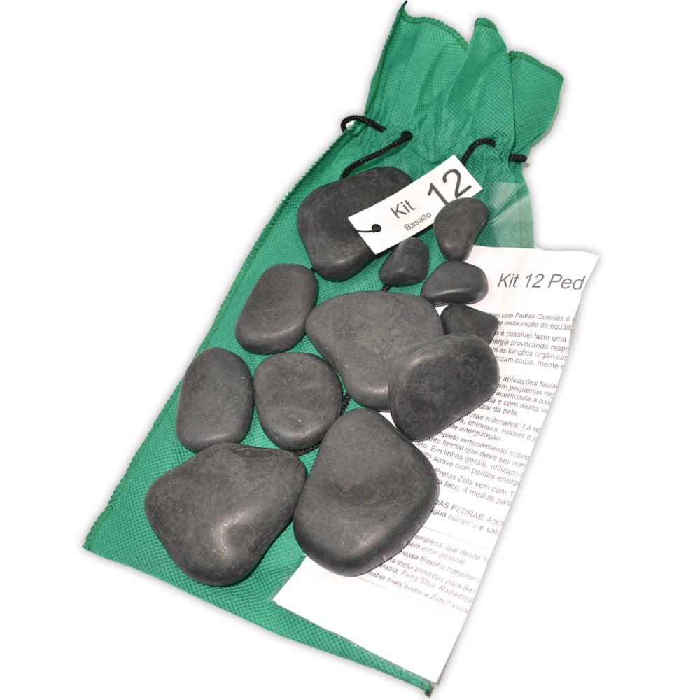 Kit 12 Pedras - Basalto Vulcânico