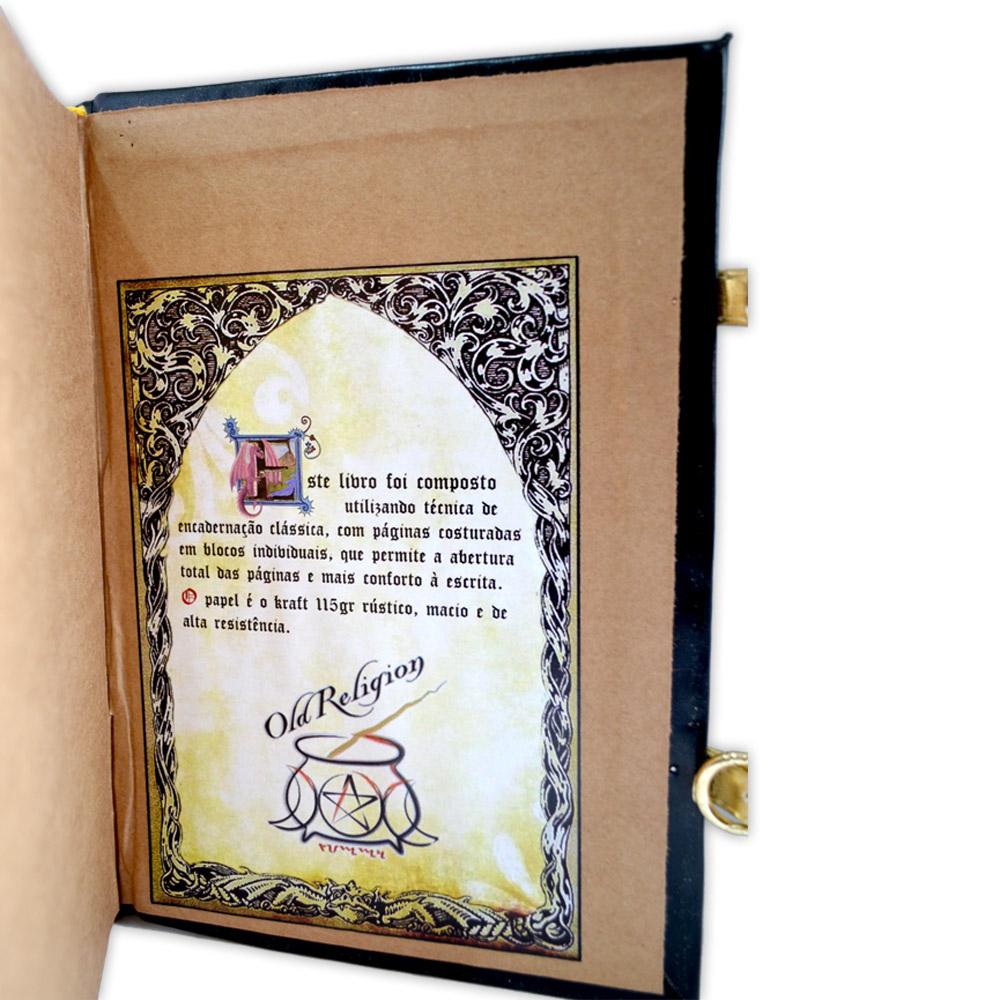 Livro das Sombras - Encadernação Medieval 200fls (1)