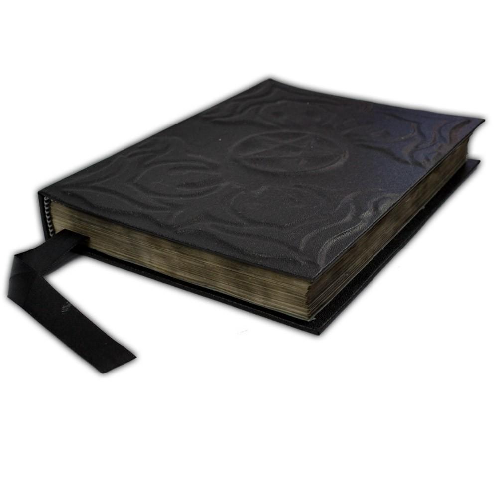 Livro das Sombras de Capa Preta P - Pentagrama Modelo 3
