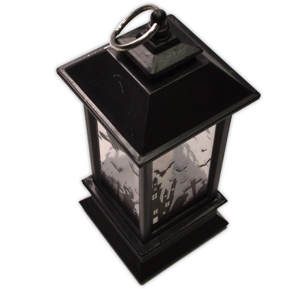 Luminária Lanterna Halloween com LED - modelo 1