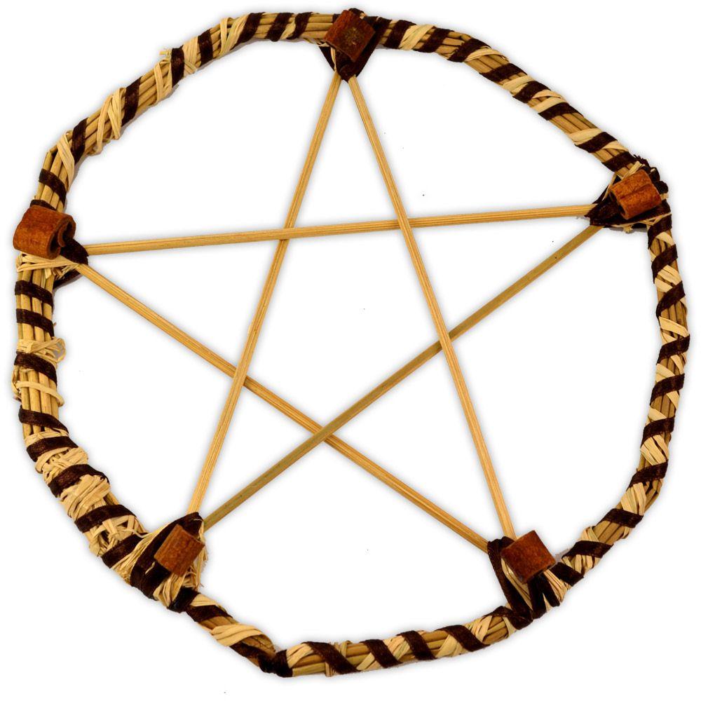 Pentagrama de Bambu e Junco com Canela - Prosperidade