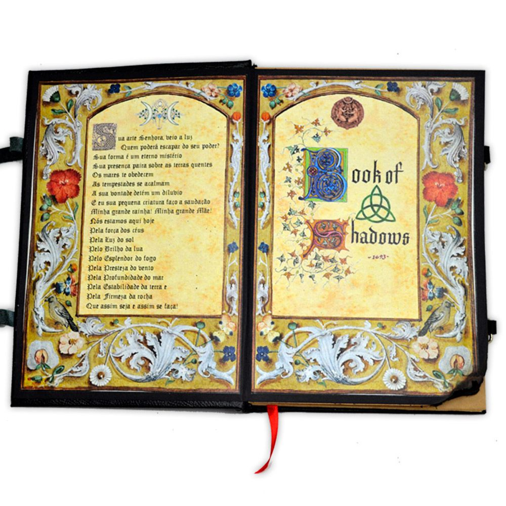 Book Of Shadows Encadernação Medieval 250pg. - Bruxa