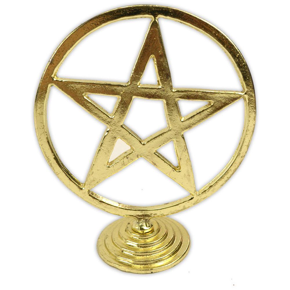 Pentagrama para Altar - Dourado