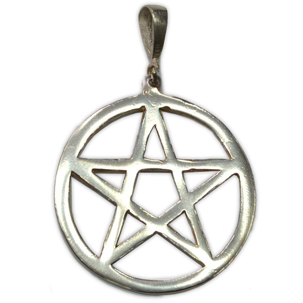 Pingente (Prata 950) - Pentagrama 3cm