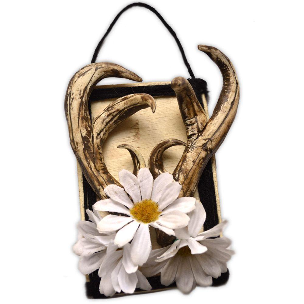 Quadro Chifres com Flores - modelo 1