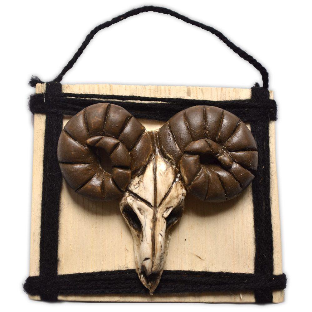 Quadro Crânio com Chifres - modelo 1