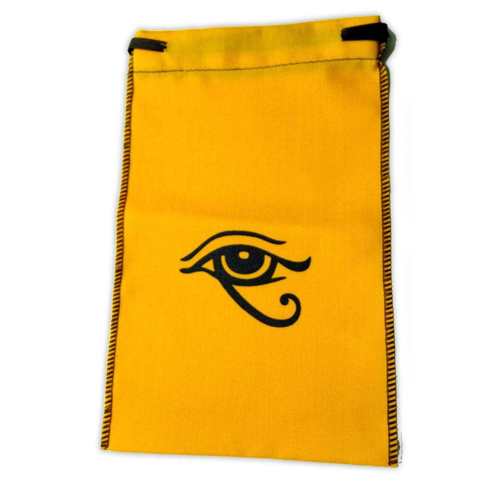 Saquinho para Tarô - Olho de Hórus Amarelo