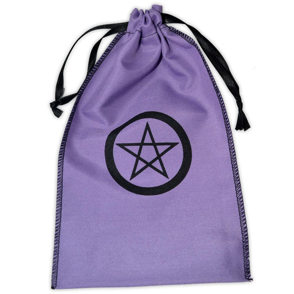 Saquinho para Tarô - Pentagrama Lilás