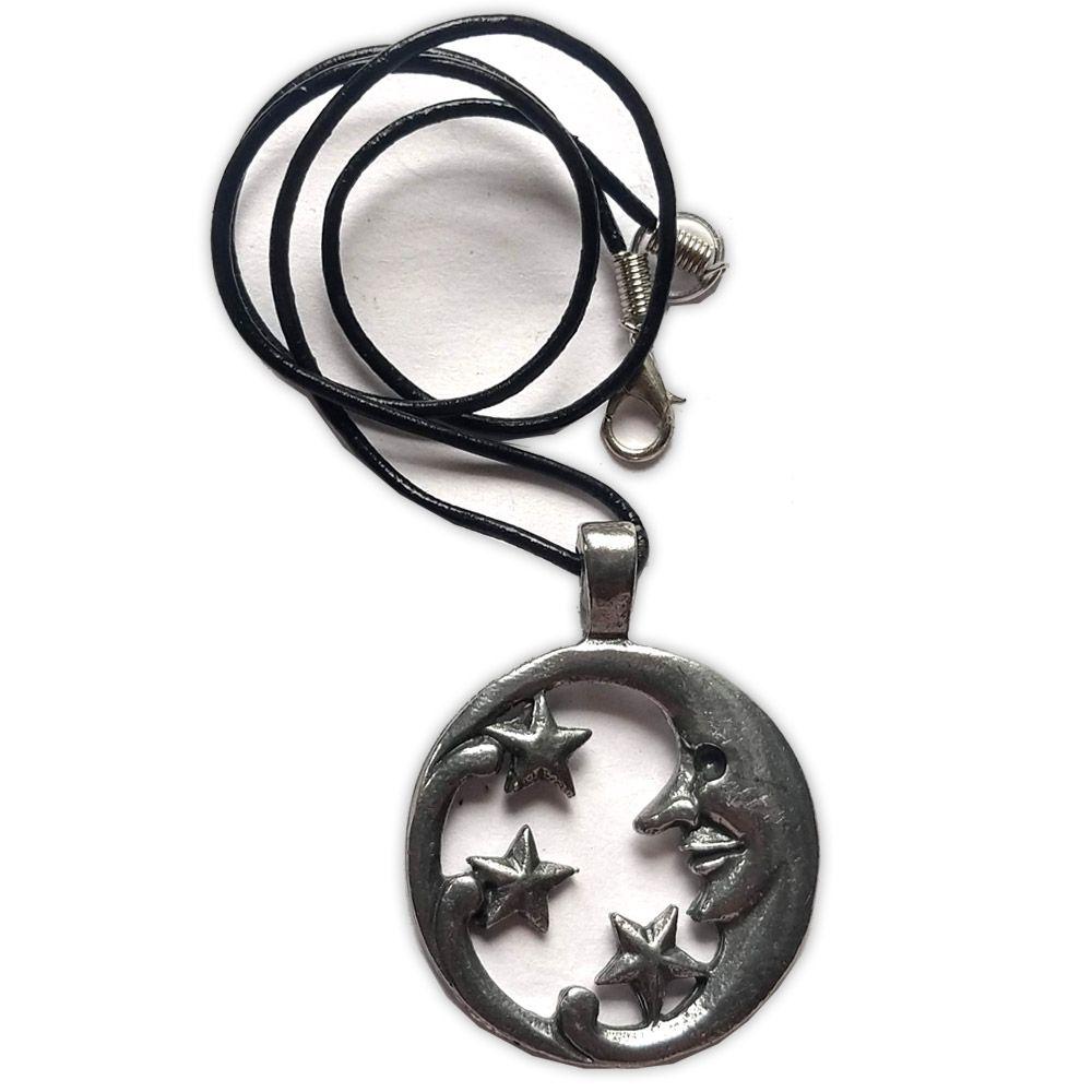 Talismã Colar - Lua e Esrela