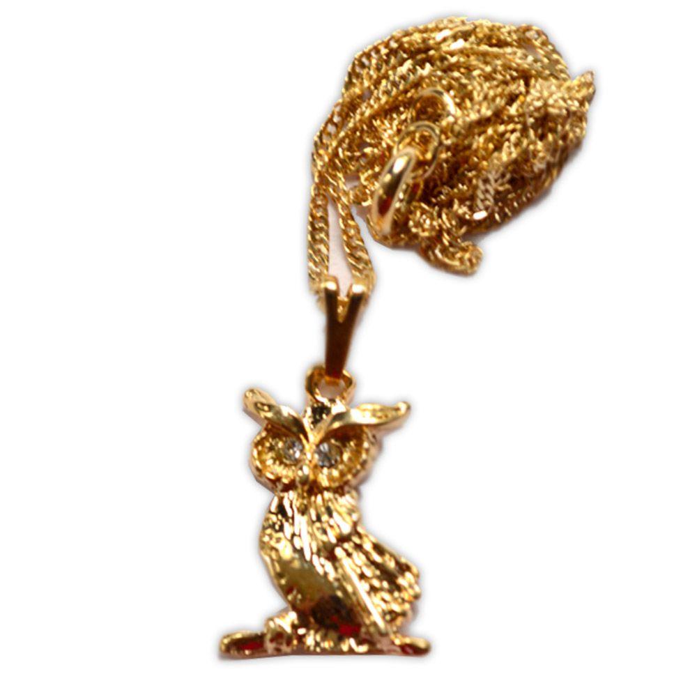 Talismã Colar Coruja - Dourada Pequena
