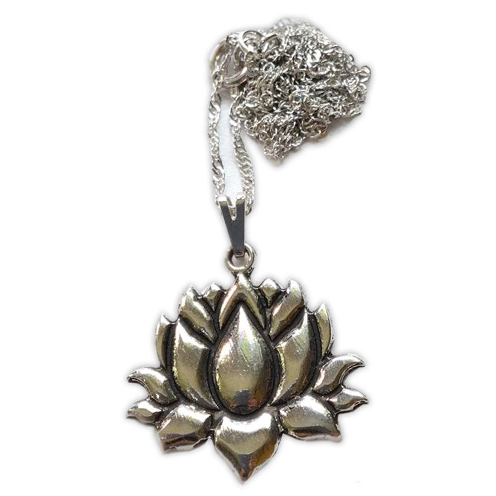 Talismã Flor de Lótus - Prateado