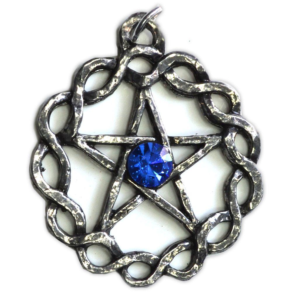 Talismã Wicca Pentagrama - Céltico Grande Swarovski, Amuleto de Proteção