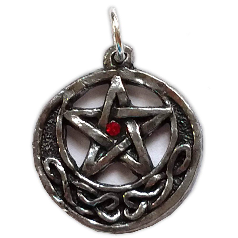 Talismã Pentagrama - Céltico peq. Swarovski