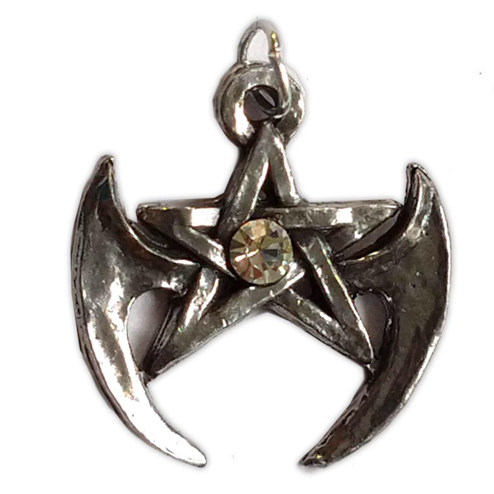 Talismã Pentagrama - Gótico Swarovski