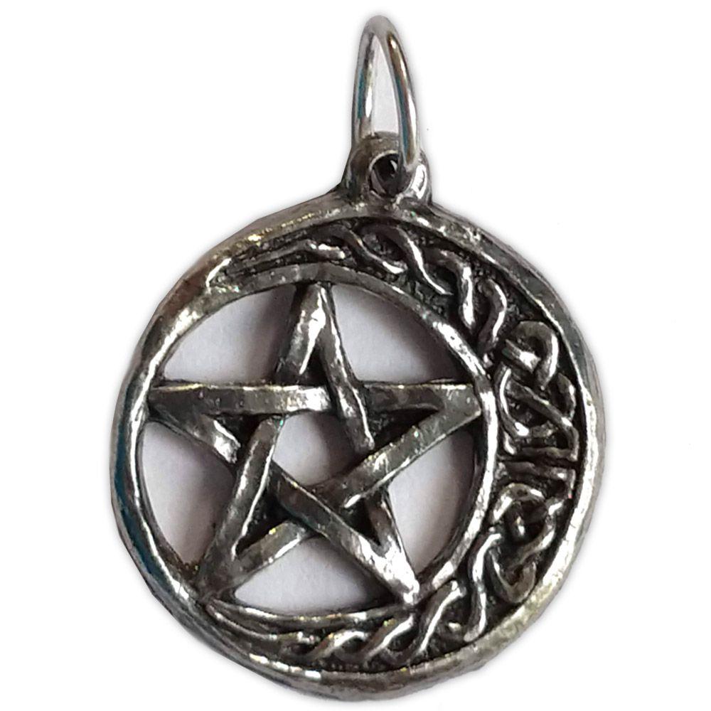 Talismã Wicca Pentagrama - Lua Celta, Amuleto de Proteção
