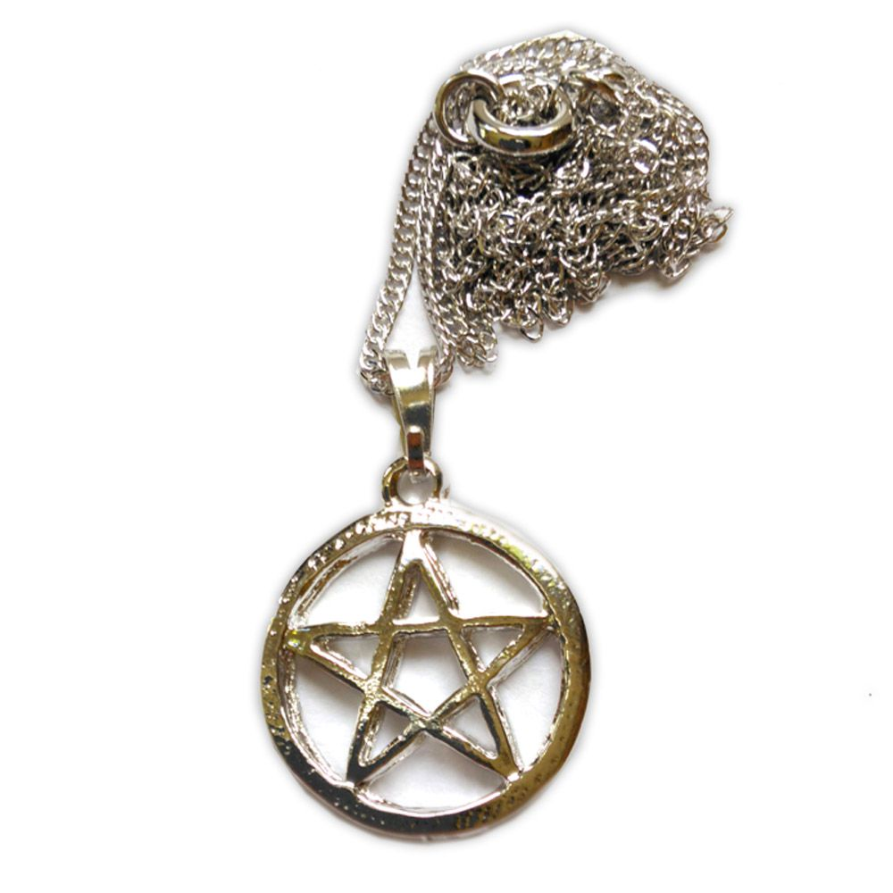 Talismã Pentagrama - Prateado Pequeno