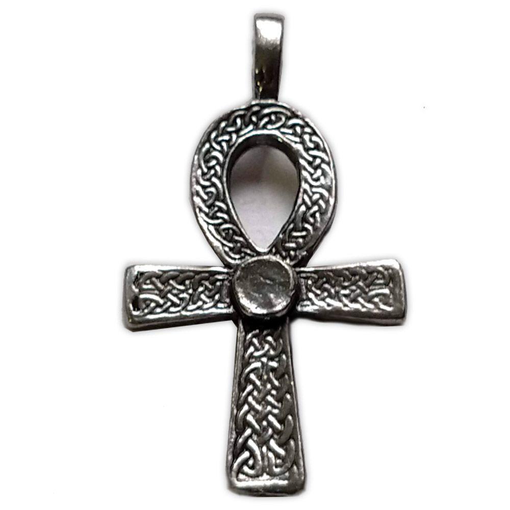 Talismã Pingente - Cruz Ansata Celta, de Proteção e Imortalidade