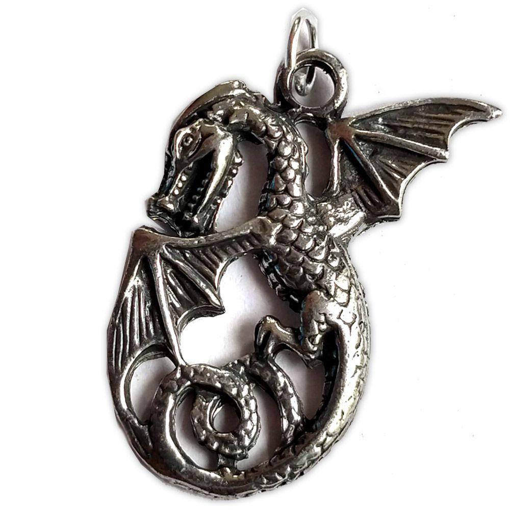 Talismã Pingente - Dragão Gótico
