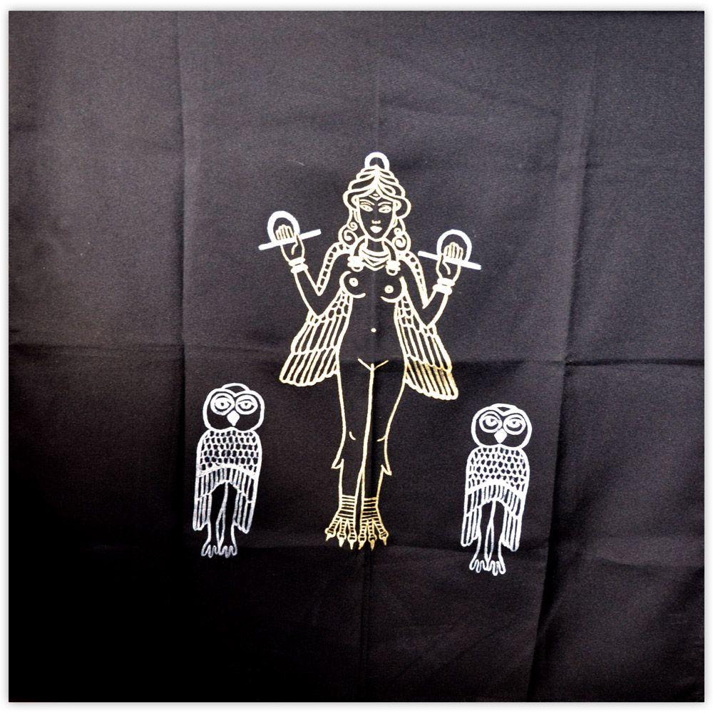 Toalha de Altar - Lilith Prateada