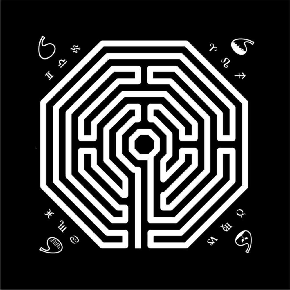 Toalha Labirinto - Preta