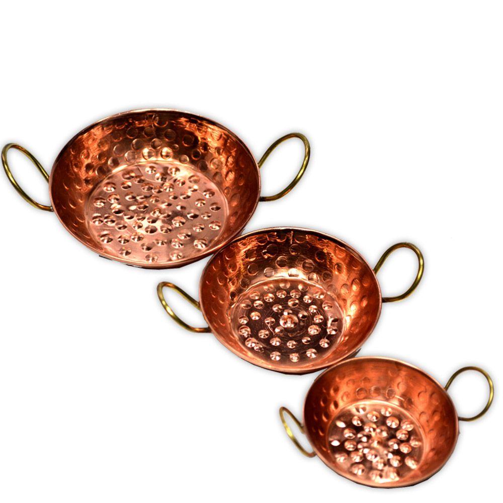 Trio Mini Tachos de Cobre
