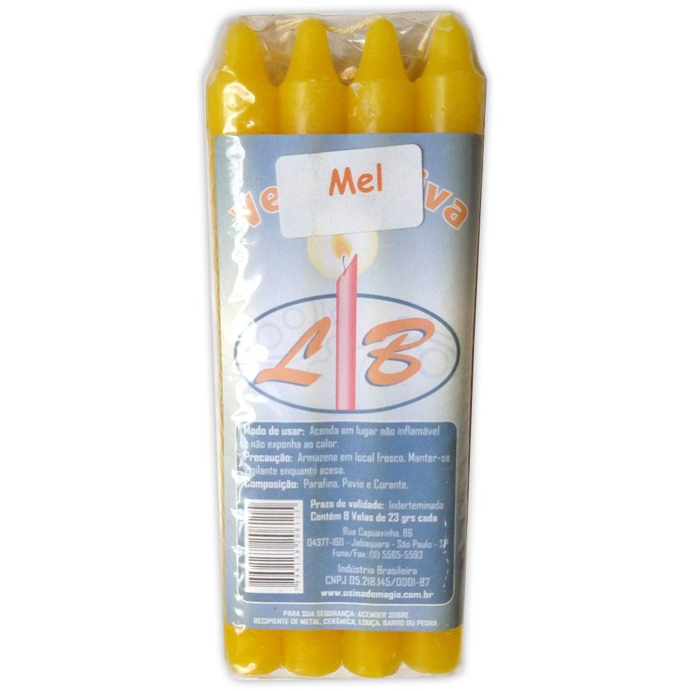 Vela Palito Aromatizada - Mel (pacote c/ 8)
