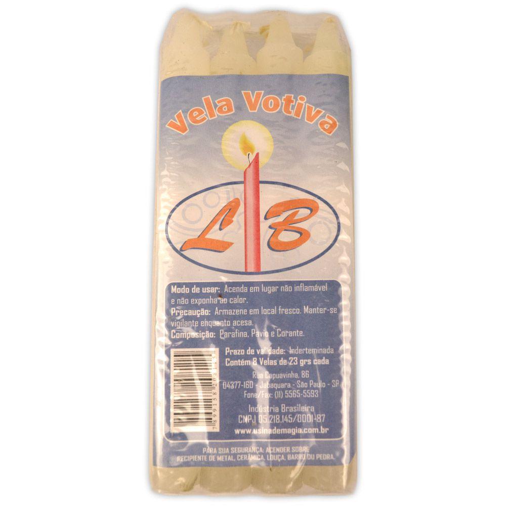 Vela Palito - Branca (pacote c/ 8)