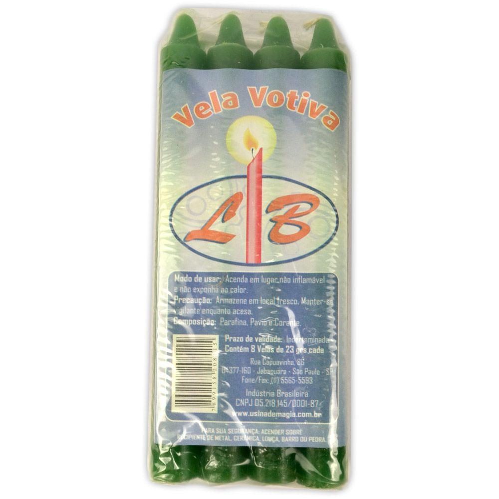 Vela Palito - Verde (pacote c/ 8)