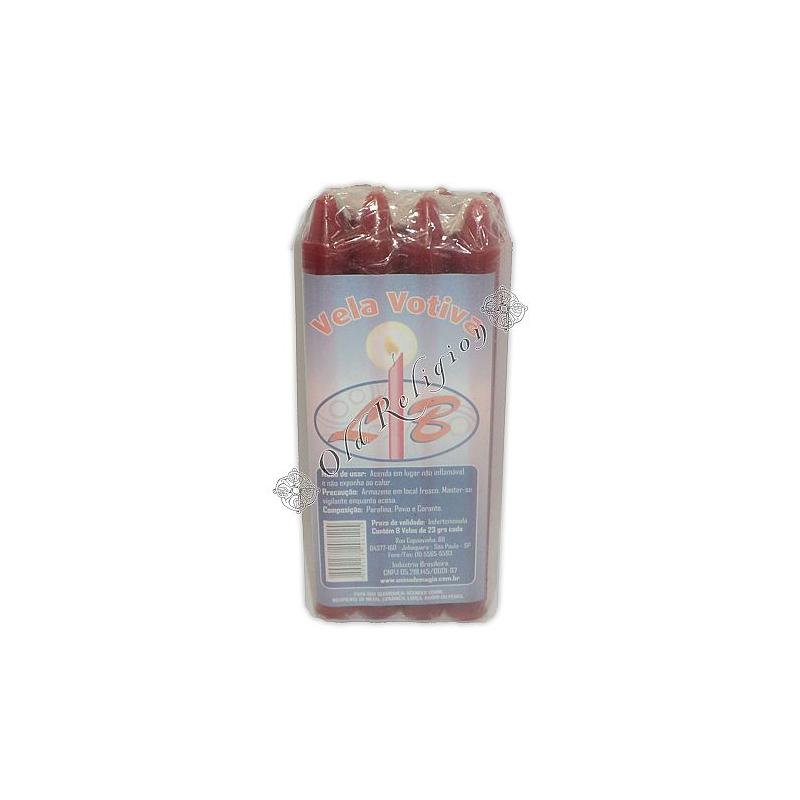 Vela Palito - Vinho (pacote c/ 8)