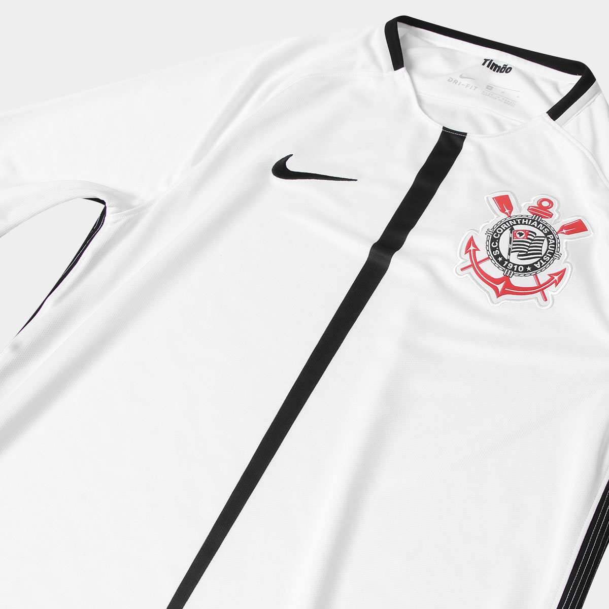 cad50b6b77 Camisa Nike Corinthians II 17 18 s nº Torcedor - Preto e Branco 1977 ...