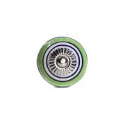 Puxador de Porcelana Listrado Verde e Azul