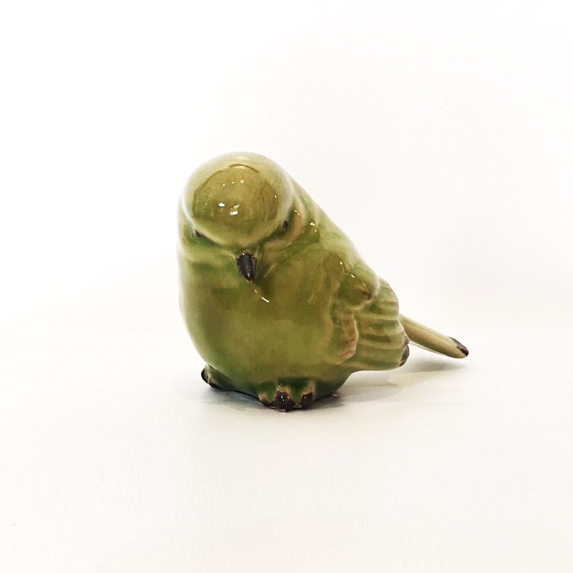 Pássaro Verde de Cerâmica - Lyor