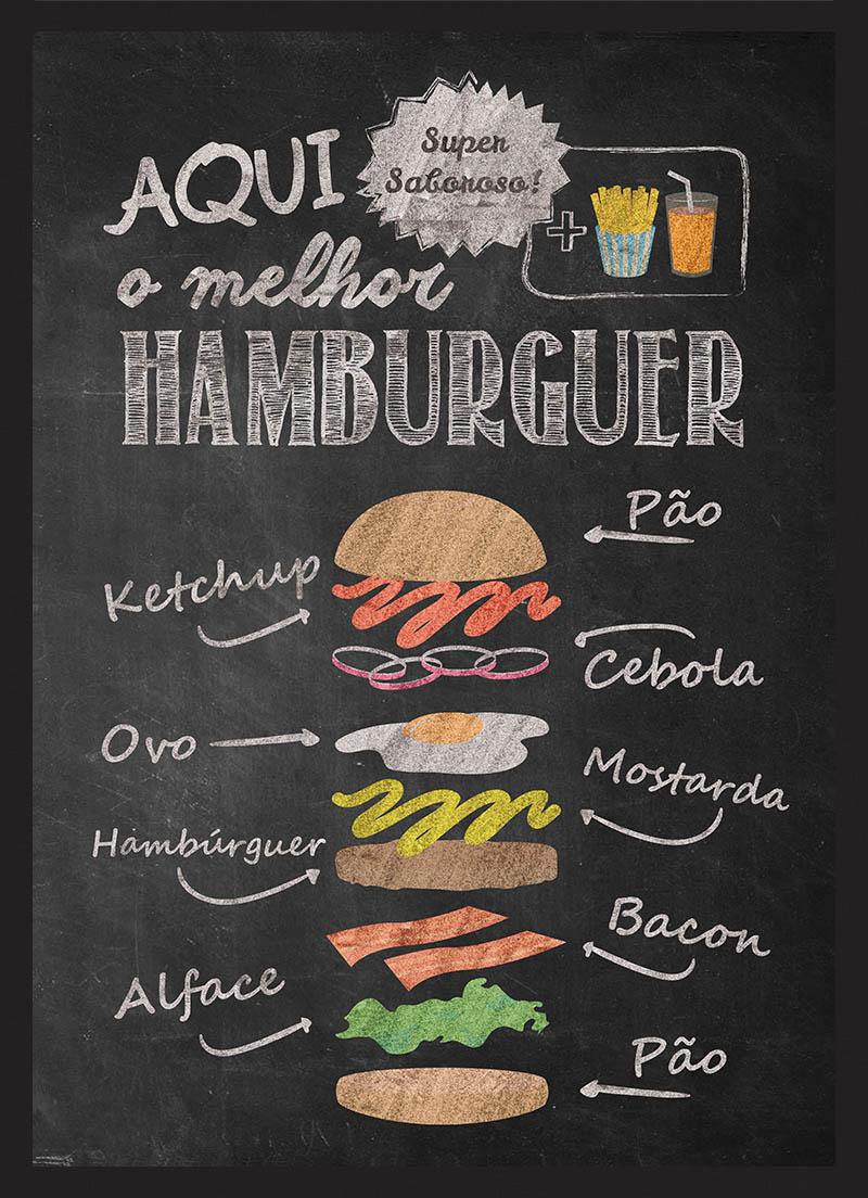 QUADRO AQUI O MELHOR HAMBURGUER