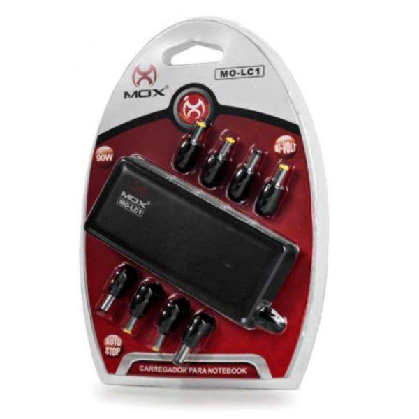 Carregador Universal Para Notebook 90w Bivolt 100 - 240v Com 8 Pinos Para Diversas Notebooks Nacionais e Outros de Fora