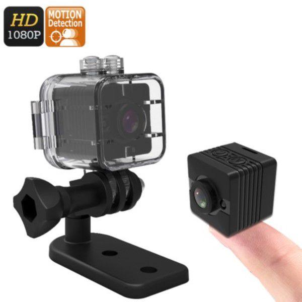 81dc246b7e8 Mini Câmera Espiã Multifuncional Ação Aventura Full HD 1080p Visão Noturna  SD Até 32GB Estojo À ...