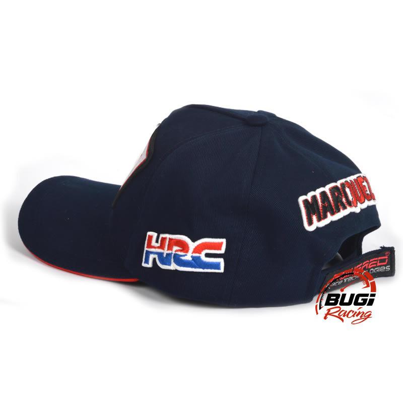 Boné Marc Marquez Formiga HRC Red Bull Azul Aba Curva - Bugi Racing ... f73375b6485