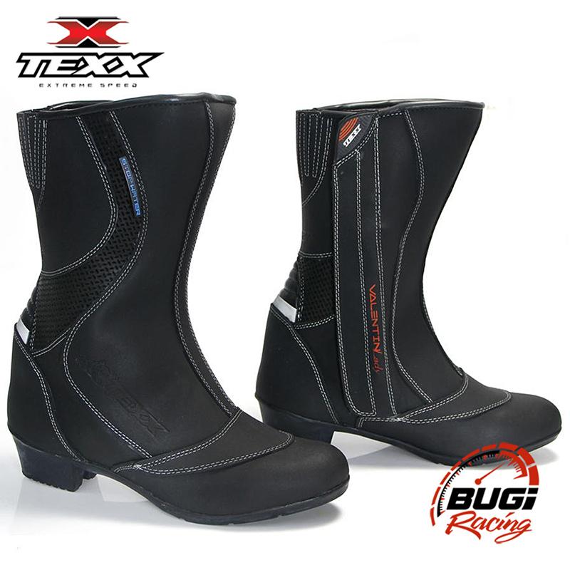 84172e5d3ba Bota Moto Feminina Couro Texx Valentin Lady 100% Impermeável - Bugi Racing  ...