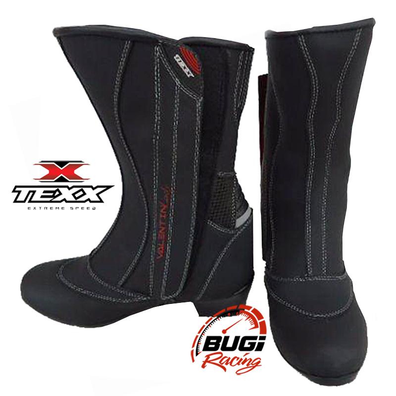 ee1510e4d9e ... Bota Moto Feminina Couro Texx Valentin Lady 100% Impermeável - Bugi  Racing ...