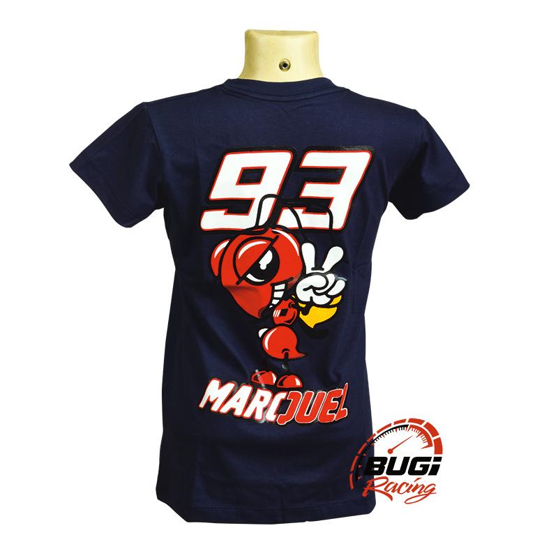 Camiseta Feminina Marc Marquez 93 Azul - Bugi Racing Motos - Peças e ... 5a716b725c87b