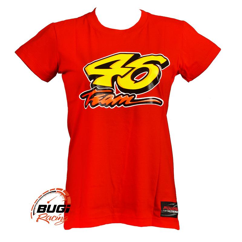 Camiseta Feminina Sol e Lua Valentino Rossi 46 - Bugi Racing Motos ... c1119f3016324
