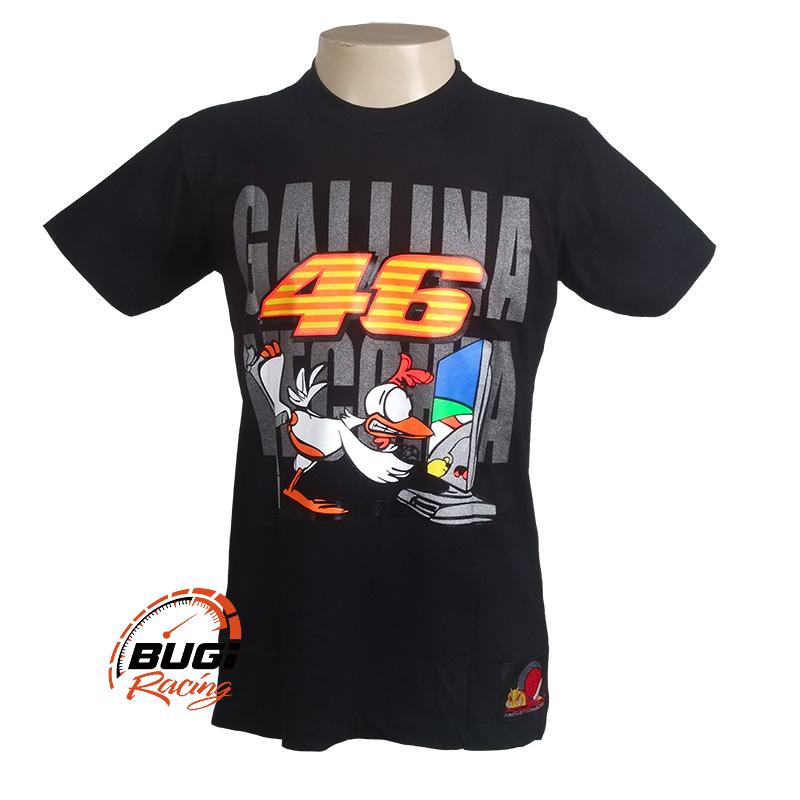 Camiseta Feminina Valentino Rossi 46 Gallina Vecchia - Bugi Racing ... 6bafc8661ff7b