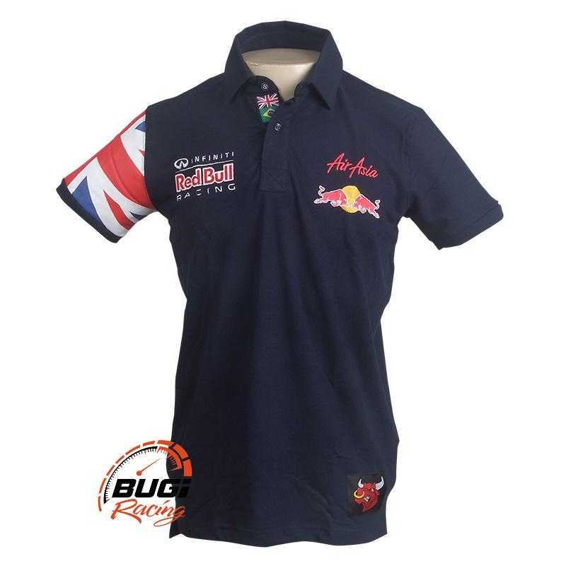 Camisa Polo Masculina Red Bull Air Asia 0c9a8b21b973b