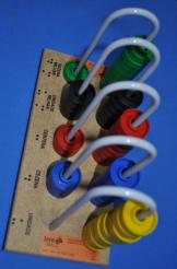 Ábaco Fechado 5 Colunas Braille