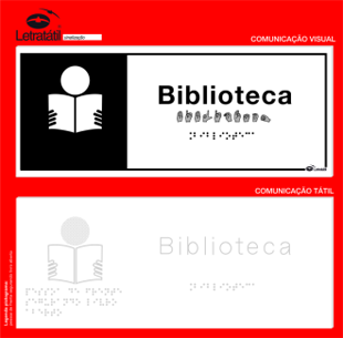 Placa de sinalização- BIBLIOTECA