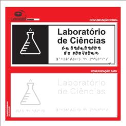 Placa de sinalização - LABORATÓRIO DE CIÊNCIAS