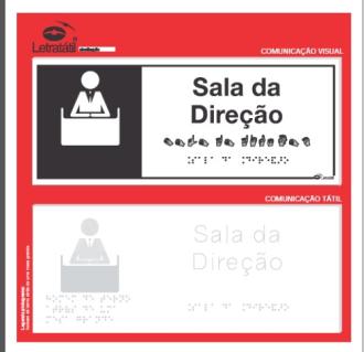 Placa de sinalização - SALA DE DIREÇÃO