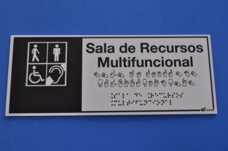 Placa de sinalização - SALA DE RECURSOS MULTIFUNCIONAL
